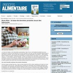 PROCESS 26/11/18 Num-Alim : la base de données produits issue des fabricants