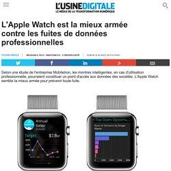 L'Apple Watch est la mieux armée contre les fuites de données professionnelles