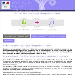 Base de données publique Transparence Santé