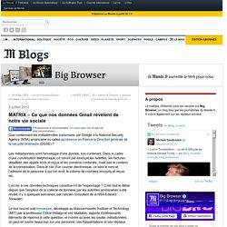 MATRIX – Ce que nos données Gmail révèlent de notre vie sociale