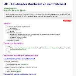 SNT - Les données structurées et leur traitement