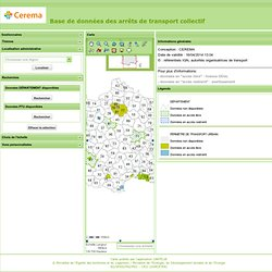 Base de données des arrêts de transport collectif