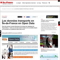 Les données transports en Île-de-France en Open Data