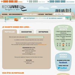 Donner ses livres d'occasion - Recyclivre