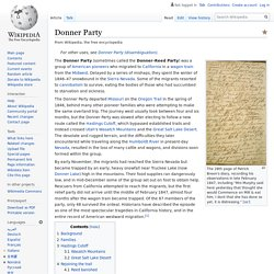 Donner Party - Wikipedia