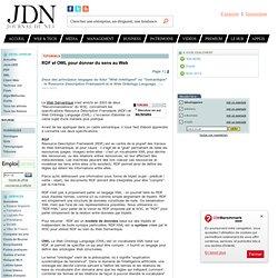 RDF et OWL pour donner du sens au Web - JDNet Développeurs