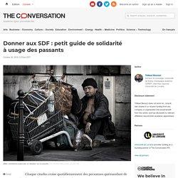 Donner auxSDF: petit guide desolidarité àusage despassants