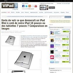 Envie de voir ce que donnerait un iPad Mini à coté de votre iPad 10 pouces ou des tablettes 7 pouces ? Comparaison en images