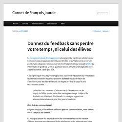 Donnez du feedback sans perdre votre temps, ni celui des élèves – Carnet de François Jourde