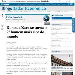 Dono da Zara se torna o 2º homem mais rico do mundo