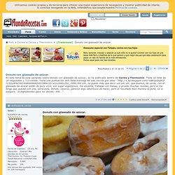Donuts con glaseado de azúcar.