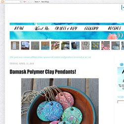 Doodle Craft...: Damask Polymer Clay Pendants!