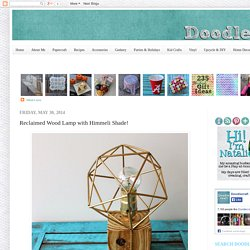 Doodlecraft: Reclaimed Wood Lamp with Himmeli Shade!