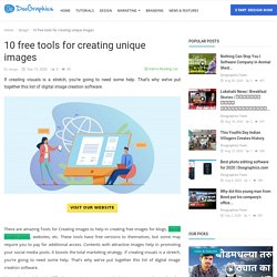 10 free tools for creating unique images - Doographics Blog - Graphics Design and advertising tips, inspiration and ideas