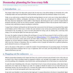 Doomsday planning for less crazy folk