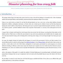 Doomsday prepping for less crazy folk