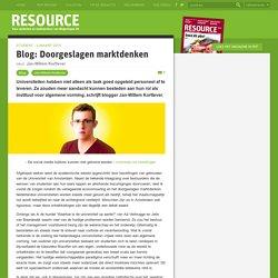 Blog: Doorgeslagen marktdenken