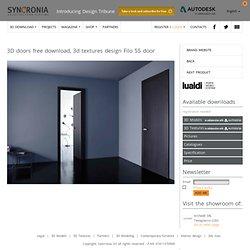 3D doors free download, 3d models & textures Filo 55 door