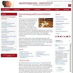 Doorstroming politici naar bedrijfsleven - Montesquieu Instituut