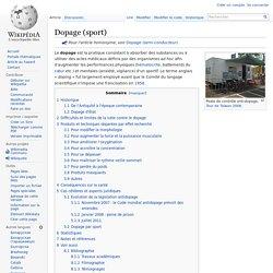 Dopage (sport)
