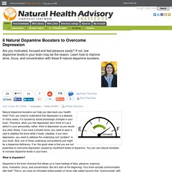 8 Natural Dopamine Boosters to Overcome Depression - Natural Health Advisory