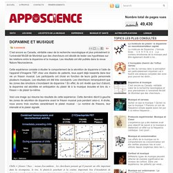 Dopamine et musique ~ Apposcience