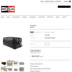 Dopp Kit - Defy Bags