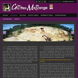 Histoire des grottes de Maxange, grottes en Dordogne, périgord.
