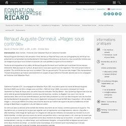 Renaud Auguste-Dormeuil, «Mages sous contrôle» - Conferences