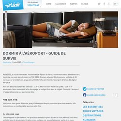 Dormir à l'aéroport - Guide de survie