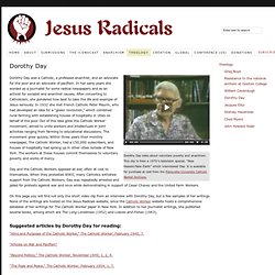 Dorothy Day Resources from Jesus Radicals