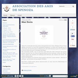 Max Dorra - Association des Amis de Spinoza