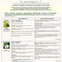 Pucerons, limaces, altises, piérides, doryphores, nématodes : lutter biologique