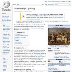 Dos de Mayo Uprising - Wikipedia