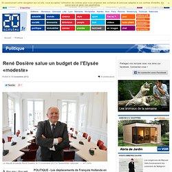René Dosière salue un budget de l'Elysée «modeste»