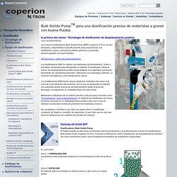 Bulk Solids Pump: Tecnología de dosificación de desplazamiento positivo
