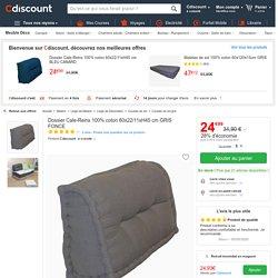 Dossier Cale-Reins 100% coton 60x22/11xH45 cm GRIS FONCE - Achat / Vente coussin - matelas de sol
