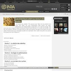 INRA 22/05/14 DOSSIER : Les chercheurs volent au secours des abeilles
