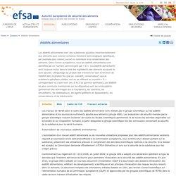 EFSA Dossier: Additifs allimentaires