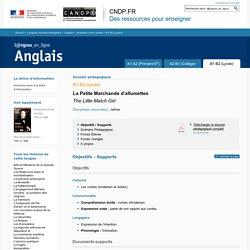 Dossier B1-B2 (Lycée) - Andersen et les contes - Anglais - Langues en ligne - CNDP