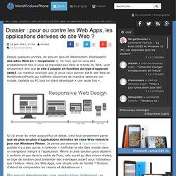 Dossier : pour ou contre les Web Apps, les applications dérivées de site Web