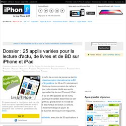 Dossier : applis variées pour la lecture sur iPhone et iPad (BD et magazines offerts chaque semaine inside)