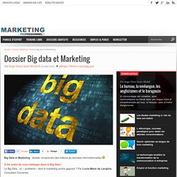 Dossier Big data et Marketing