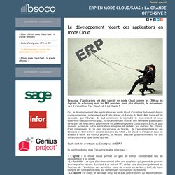Dossier bsoco - ERP en mode Cloud/SaaS : la grande offensive?