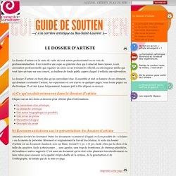 Le dossier d'artiste - Guide de soutien à la carrière artistique au Bas-St-Laurent