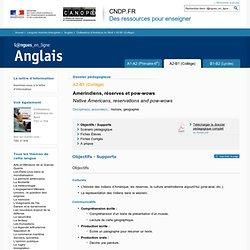 Dossier A2-B1 (Collège) - Civilisations d'Amérique du Nord - Anglais - Langues en ligne - CNDP