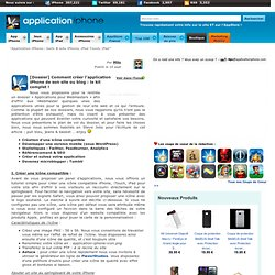 [Dossier] Comment créer l'application iPhone de son site ou blog : le kit complet !