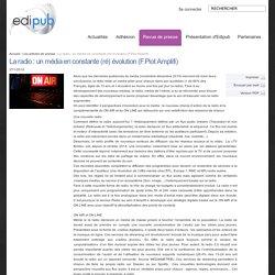 Edipub Dossier de presse - La radio : un média en constante (ré) évolution (F.Piot Amplifi)