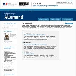 Dossier Accueil - L'art contemporain - Allemand - Langues en ligne - CNDP