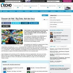 Dossier de l'été : Big Data, état des lieux - L'Echo Touristique